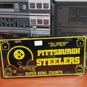 Vtg 1990s  Pittsburgh Steelers License Plate